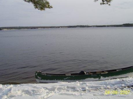 Mink Lake in April - Alain Belliveau
