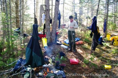 Camp at Morning