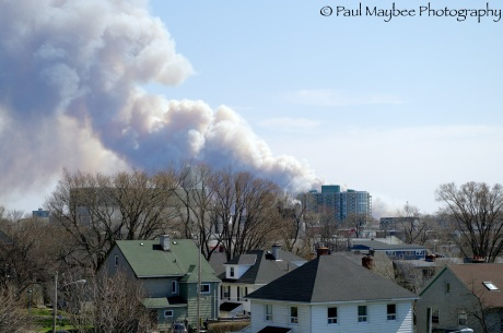 Halifax Fire from Fort Needham
